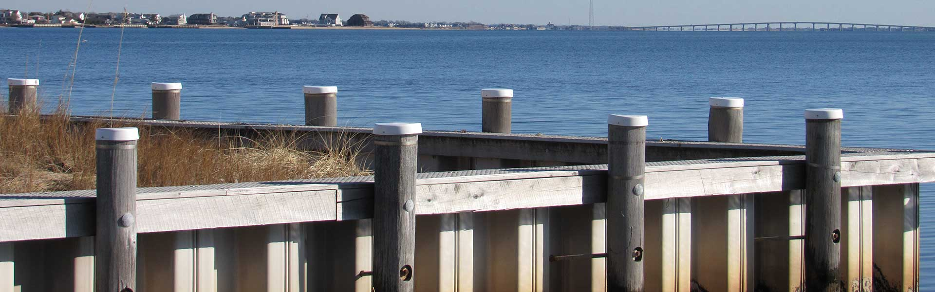 Marine dock piles and lumber